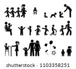 pictogram people  family icons  ... | Shutterstock .eps vector #1103358251