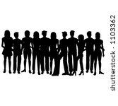 silhouettes of people | Shutterstock .eps vector #1103362