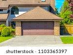 garage  garage doors and... | Shutterstock . vector #1103365397