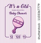 baby shower design | Shutterstock .eps vector #1103367779