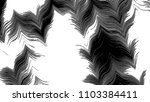 black and white horizontal wavy ... | Shutterstock . vector #1103384411