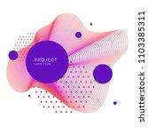 trendy abstract art geometric... | Shutterstock .eps vector #1103385311