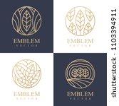 nature logo set. floral logo.... | Shutterstock .eps vector #1103394911