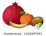 hand drawn illustration of... | Shutterstock .eps vector #1103395391