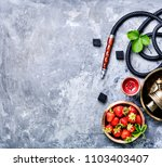 oriental hookah with the aroma... | Shutterstock . vector #1103403407