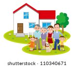 family in front of the house | Shutterstock . vector #110340671