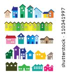 a set of house illustrations.... | Shutterstock .eps vector #110341997