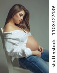 beautiful pregnant woman | Shutterstock . vector #1103422439