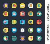 app flat vector set | Shutterstock .eps vector #1103423867