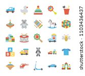 children and kids icons  | Shutterstock .eps vector #1103436437