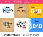 happy father's day vector... | Shutterstock .eps vector #1103441921