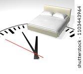 time to sleep. 3d rendering... | Shutterstock . vector #1103443964