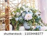 beautiful wedding decor ...   Shutterstock . vector #1103448377