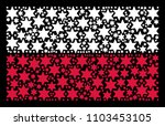 poland flag mosaic organized of ... | Shutterstock .eps vector #1103453105