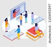 online education isometric... | Shutterstock . vector #1103453597
