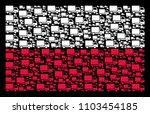 poland flag mosaic designed...   Shutterstock .eps vector #1103454185