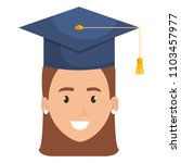 woman student graduating with... | Shutterstock .eps vector #1103457977