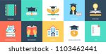 innovative flat education icons | Shutterstock .eps vector #1103462441
