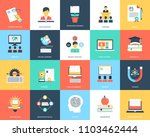 education flat icons set | Shutterstock .eps vector #1103462444