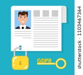 general data protection...   Shutterstock . vector #1103467364