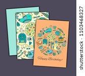 happy birthday vector greeting... | Shutterstock .eps vector #1103468327