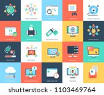 flat icons internet security... | Shutterstock .eps vector #1103469764