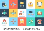 flat icons set of internet... | Shutterstock .eps vector #1103469767
