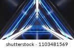 dark futuristic triangle sci fi ... | Shutterstock . vector #1103481569