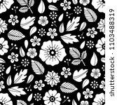 graphic floral seamless pattern.... | Shutterstock .eps vector #1103488319