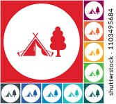 stylized icon of tourist tent.... | Shutterstock .eps vector #1103495684