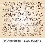 calligraphic elegant elements... | Shutterstock .eps vector #1103506541
