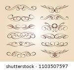 set of decorative elements.... | Shutterstock .eps vector #1103507597