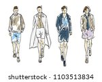 fashion man. set of fashionable ... | Shutterstock .eps vector #1103513834