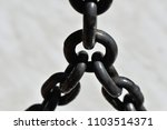 three metallic chains | Shutterstock . vector #1103514371