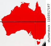 in  australia the map of the...   Shutterstock . vector #1103517197