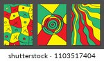 abstract geometric backgrounds... | Shutterstock .eps vector #1103517404
