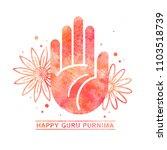 happy guru purnima celebration... | Shutterstock .eps vector #1103518739