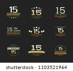 15th anniversary celebration... | Shutterstock .eps vector #1103521964