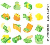 money coin dollar icons set.... | Shutterstock .eps vector #1103523494