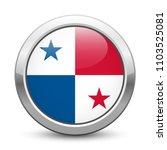 panama   shiny metallic button... | Shutterstock .eps vector #1103525081