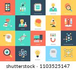 science and technology flat... | Shutterstock .eps vector #1103525147