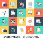 collection of seo and marketing ... | Shutterstock .eps vector #1103528987