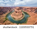horseshoe bend view from above... | Shutterstock . vector #1103533751