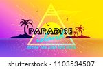 paradise sunset islands with... | Shutterstock .eps vector #1103534507