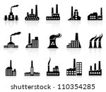 black factory icons set | Shutterstock .eps vector #110354285