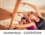 beautiful adult women doing... | Shutterstock . vector #1103545244