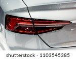 closeup red car taillight | Shutterstock . vector #1103545385