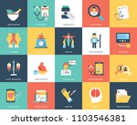medical and healthcare icons... | Shutterstock .eps vector #1103546381