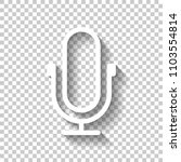 simple microphone icon. linear  ...