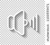 volume max icon. white icon... | Shutterstock .eps vector #1103555471